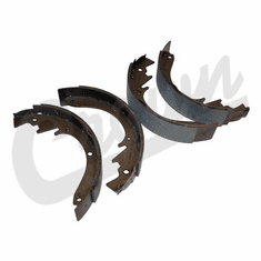 ( J8120393 ) Brake Shoe & Lining Set, 1967-1971 Jeepster Commando C101 with V6 Engine By Crown Automotive