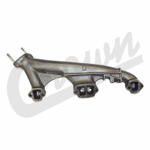 ( J8121274 ) Right Side Exhaust Manifold, 1974-1991 Jeep 5.0L 304 Engines, Passengers Side By Crown Automotive