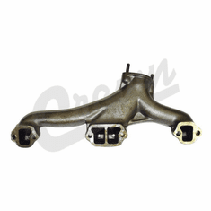 ( J8122442 ) Left Side Exhaust Manifold, 1974-1981 Jeep 5.0L 304 Engines, Drivers Side By Crown Automotive