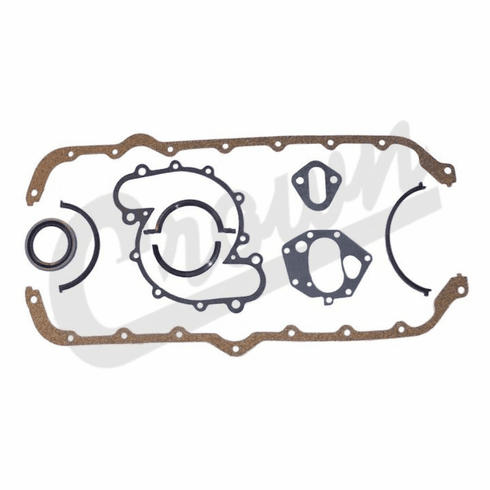 ( J8125727 ) Lower Gasket Set for 1970-1991 Jeep V8 304, 360, or 401 Engines By Crown Automotive