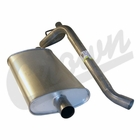 ( 52019138 ) Muffler & Tailpipe for 1993-95 Jeep Cherokee XJ with 2.5L or 4.0L Engine by Crown Automotive