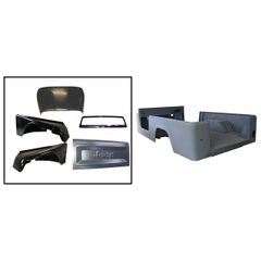 Jeep Scrambler Steel Body Kit, Body With Fenders, Hood, Windshield & Tailgate, 1981-1986 CJ8 Scrambler