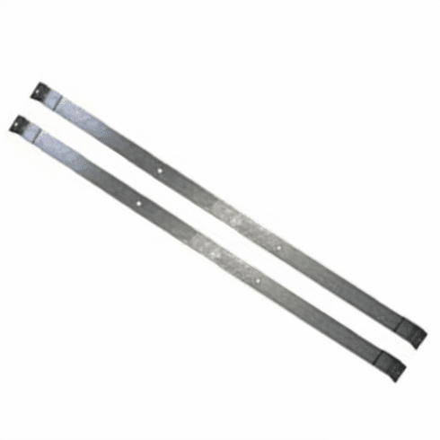 ( JPGTS-1 ) Gas Tank Straps for 1962-1979 Jeep Pickup with 18 Gallon Gas Tank (pair) without bolts by MTS