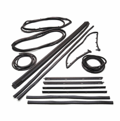 ( KD4004 ) Weatherstrip Kit for 1987-1995 Jeep Wrangler YJ with movable vent, 13 Piece Kit by Fairchild