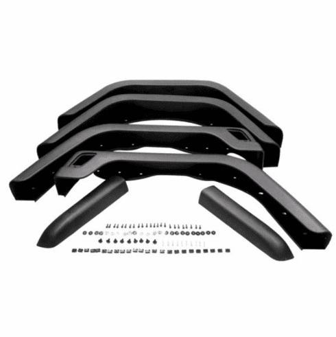 ( KD4032 ) Jeep 1997-2006 Wrangler TJ Fender Flare Kit Front & Rear Driver Side & Passenger Side with Side Extensions by Fairchild