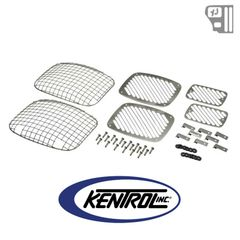 ( 30467 ) Billet & Wire Mesh Set (6 pieces) Polished Stainless Steel fits 1987-1995 Jeep Wrangler YJ by Kentrol