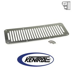 ( K30458 ) Hood Vent (8 Holes) Polished Stainless Steel fits 1987-1995 Jeep Wrangler YJ by Kentrol