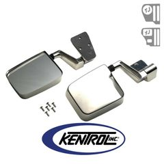 Kentrol Mirror Kit (pair) Polished Stainless Steel fits 1988-2006 Jeep Wrangler YJ, TJ