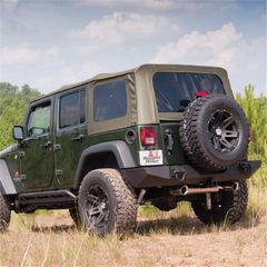 Khaki Soft Top w/ Tinted Windows, w/o Doorskins Wrangler JK 07-09 4-Door by Rugged Ridge