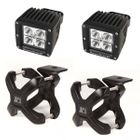 ( 1521002 ) Large X-Clamp and Cube LED Light Kit, Black, Pair by Rugged Ridge