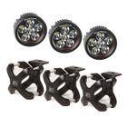 ( 1521006 ) Large X-Clamp and Round LED Kit, 3 Pieces, Black by Rugged Ridge