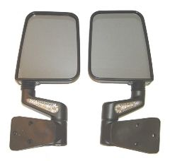 ( 1101520 ) Heated Door Mirror Kit, LED Signals, Black 87-02 Jeep Wrangler by Rugged Ridge