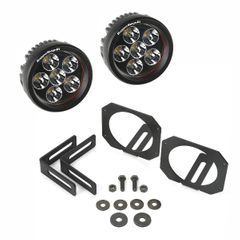 LED Light & Mount Kit, Circle, 07-17 Jeep Wrangler by Rugged Ridge