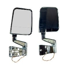 Door Mirror Kit, LED Signal, Dual Focus, Chrome, 87-02 Jeep Wrangler by Rugged Ridge