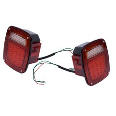 LED Tail Light Set, 76-06 Jeep CJ, Wrangler by Rugged Ridge