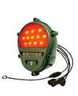 ( 11614157LED ) LED Type Rear Stop Lamp / Tail Lamp / Turn Signal Composite Lamp with Blackout Function, Red with Military Green Housing, 24 Volt