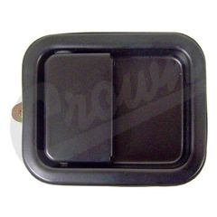 Left Side Outside Door Paddle Handle in Black, fits 1981-06 Jeep CJ, Wrangler