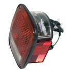 ( 56002135 ) Left Side Tail Light, Black, w/ license lamp, fits 1987-90 Jeep Wrangler YJ by Crown Automotive