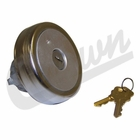 Locking Fuel Cap, Locking; Non-Vented, Jeep CJ (1980-1986). Jeep Wrangler (1987-1995). Jeep SJ & J-Series (1980-1991).