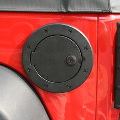 ( 1142506 ) Locking Gas Cap Door, Black Aluminum, 07-17 Jeep Wrangler by Rugged Ridge