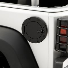 Locking Gas Cap Door, Black, 07-17 Jeep Wrangler by Rugged Ridge