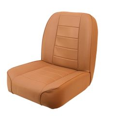 ( 1340004 ) Low-Back Front Seat, Non-Recline, Tan, 55-86 Jeep CJ Models by Rugged Ridge