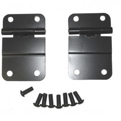 Lower Tailgate Hinge Set, Black, 76-86 Jeep CJ Models by Rugged Ridge
