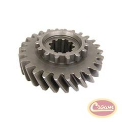 34) Mainshaft Gear, fits 1963-79 Jeep CJ, C-101 Jeepster, J-Series & Wagoneer with Dana 20 Transfer Case, (Mark 18-8-49) T-14 Transmission, 26 Teeth Count
