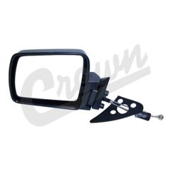( 55034123 ) Manual Remote Mirror in Black for Driver Side 1984-96 Jeep Cherokee XJ by Crown Automotive