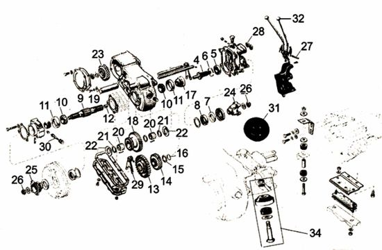 Willys MB & Ford GPW Transfer Case Parts