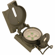 Military Marching Compass with Rugged Metal Case