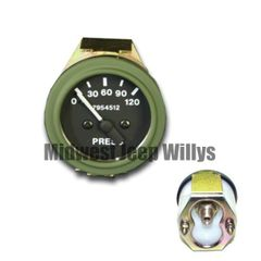 ( 7954512 ) 24 Volt Military Vehicle Air Pressure Gauge, 2.5 Ton, 5 Ton