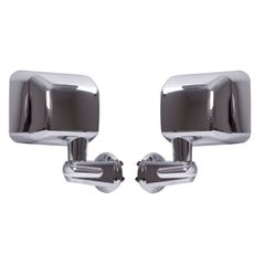 Door Mirror Kit, Chrome, 07-18 Jeep Wrangler by Rugged Ridge