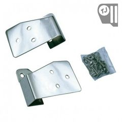 Mirror Relocation Brackets, Stainless Steel, 03-06 Jeep TJ/LJ Wrangler by Rugged Ridge