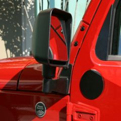 Mirror Relocation Brackets, Black, 07-18 Jeep Wrangler by Rugged Ridge