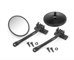 Quick Release Mirror Relocation Kit, Black, 97-18 Jeep Wrangler by Rugged Ridge