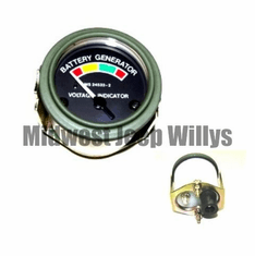 ( MS24532-2 ) 24 Volt Battery Gauge for M151, M38, M38A1 with Packard Rubber Connectors by Newstar