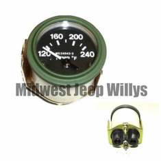 ( MS24543-2 ) 24 Volt Temperature Gauge for M151, M38, M38A1 with Packard Rubber Connectors by Newstar