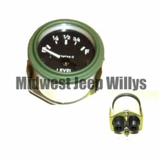 ( MS24544-2 ) 24 Volt Fuel Gauge for M151, M38, M38A1 with Packard Rubber Connectors by Newstar