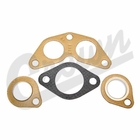 ( J0801345 ) Manifold Gasket Set, 4 piece kit, Fits 1950-1971 Jeep & Willys with F-134 Hurricane Engine by Crown Automotive