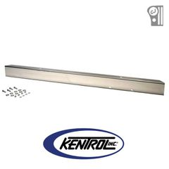 "Polished Stainless Steel 54"" Front Bumper with no License Plate Holes fits 1945-1986 Jeep CJ Models by Kentrol"