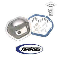 ( 304M44 ) Polished Stainless Steel Front & Rear Differential Cover Model 44 fits 1945-1975 Jeep CJ, 1986 CJ7 by Kentrol