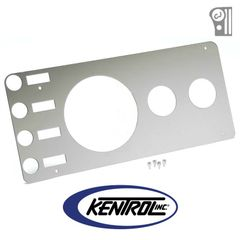 Polished Stainless Steel Gauge Cover without Radio Opening fits 1976-1986 Jeep CJ Models by Kentrol
