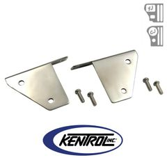 Polished Stainless Steel Light Bracket Set fits 1976-1995 Jeep CJ & YJ Wrangler by Kentrol