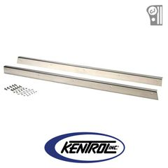( 30413 ) Polished Stainless Steel Rocker Guard Set fits 1955-1983 Jeep CJ5 by Kentrol