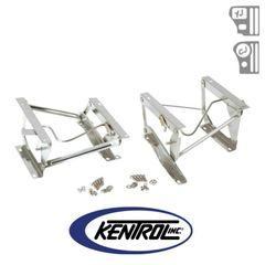 Polished Stainless Steel Seat Pedestal Set fits 1976-1990 Jeep CJ & YJ Wrangler by Kentrol