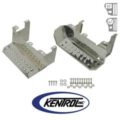 Polished Stainless Steel Side Step Set fits 1976-1995 Jeep CJ7 & YJ Wrangler by Kentrol