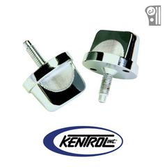 Polished Stainless Steel Windshield Knob Set fits 1976-1995 Jeep CJ & YJ Wrangler by Kentrol