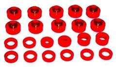 Prothane Body & Cab Mount Bushing Kit for Jeep 1981-85 CJ8 (26 PCS), RED