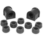 "( 1-1102BL ) Black Polyurethane Swaybar Bushing Kit for Jeep 1987-95 Wrangler With 15/16"" Dia. Bar by Prothane"